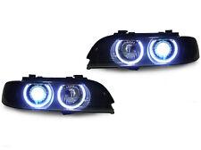 DEPO Smoke Corner UHP LED Angel Halo Xenon HID Headlights For 97-00 E39 5 Series