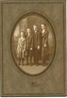 Original Antique Photo-Folder-Norton Kansas-Lady-3 Older Children-Reed Studio