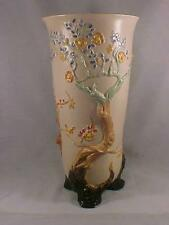 "Clarice Cliff Very Lg 13 7/8"" Cherry Tree Footed Vase"