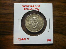 1944S Australia Shilling World Coin Circulated Free Shipping 399