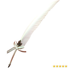 AWESOME Vintage Feather Quill Pen Deluxe Natural Swan Fountain Pen Nib Calligra