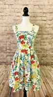 Vintage 50's / 60's LANZ Original Floral Daisy Sundress Sz Small ~ STUNNING!
