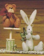 PAESAGGIO Crafts tempo indossato Bear & Bunny * modello * primitiva / homespun