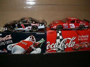 1/24 Action Earnhardt Sr. & Jr. 1998 Coca-Cola nascars #1 & #3