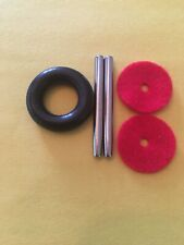 Metal Spool Pin Kit,Bobbin Tire,Red Felt Singer 15,15-90,27,28,206,306W