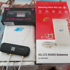 Unlocked Huawei E8372 150Mbps 4G LTE Wifi Modem E8372h-153 +4G Antenna 49dBi TS9