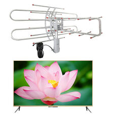1080P Outdoor Amplified Antenna Digital HD TV 150 Mile 360 Rotor UHF/VHF/FM AK