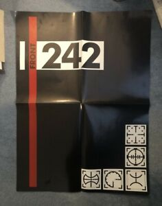 FRONT 242 Vintage 80's Promo Poster EBM No LP Industrial Belgian NIN Coil Synth