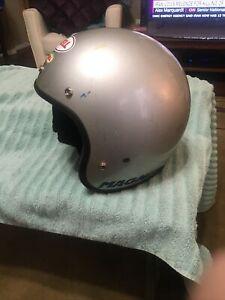 Vintage Bell Grey Magnum Motorcycle Helmet 7 3/4 4-81 Date Estate Original NR