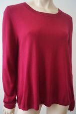 DVF DIANE VON FURSTENBERG Pinky Red Round Neck Long Sleeve Jumper Sweater Top
