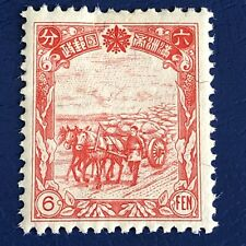 More details for china/manchukuo-1936/37-rice harvest 6 fen stamp -mint-scott 90