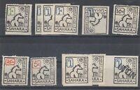 Empire De Sahara Fantasy Stamp Collection Of 11 Rare Interesting MNH J9429