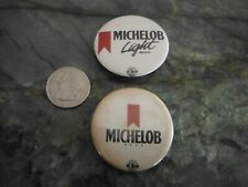"""New listing Vintage Michelob Beer Button Pin and Refrigerator Magnet Set (2) 1.5"""" Diameter"""