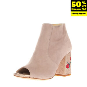 RRP €160 TODAI Suede Leather Ankle Boots EU 35 UK 2 US 5 Roses Made in Italy