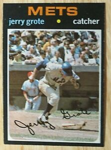 1971 TOPPS BASEBALL SET, #278 Jerry Grote, New York Mets, EX
