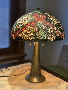 """HAND MADE 16""""flower Tiffany Table Lamp GLASS COUNT 1221PCS"""