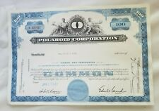 POLAROID Corporation 100 Shares 1967 Stock Certificate
