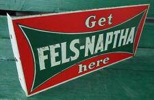 ANTIQUE 1920'S GENERAL STORE FELS-NAPTHA SOAP ADVERTISING FLANGE SIGN RARE