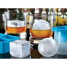 New Sharper Image Ice Cube and Sphere Mold Set SLOW Melting Chills w/o watering