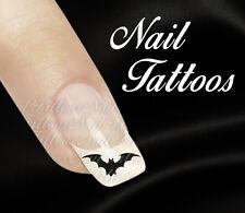 Nail Art Tattoo Fledermaus schwarz Helloween Tiere 20 St. TT-02