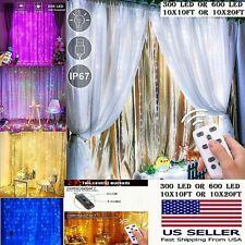 300 LED 10ft Curtain Fairy Hanging String Lights Wedding Party 600 LED 20 ft NIB