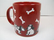Dog & Bones on Red Mug 12oz Waechtersbach Germany NEW