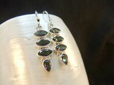 Mystic Topaz Marquise & Pear Drop Sterling Silver Dangle Earrings