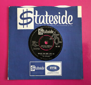 """E261, Where Did Our Love Go, The Supremes,  7""""Single Very Good Plus Condition"""
