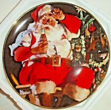 "Franklin Mint 1994 Coca Cola Santa ""A Refreshing Pause"" Hd 9852 Plate 8"""