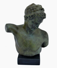 Marathon Youth Man Bronze Bust - Ephebe - Antique Style - Lost Wax Method