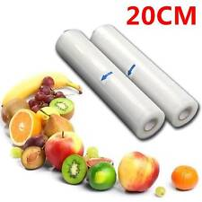 TEXTURED VACUUM VAC SEALER SOUS VIDE FOOD SAVER STORAGE BAG ROLLS 20CMx12M