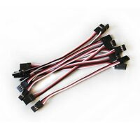 10x 10CM Male to Male JR Plug Servo Extension Lead Wire Cable 100mm