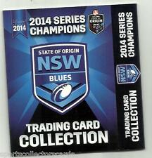 2014 ESP NRL STATE OF ORIGIN NSW BLUES LIMITED EDITION BOX SET 25 CARD