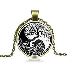 Tree Of Life women Men Spiritual Bronze 20' chain pendant charm necklace