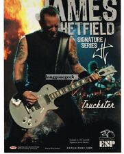 2005 ESP Truckster Signature Series Electric Guitar JAMES HETFIELD Vintage Ad