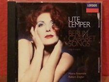 Ute Lemper - Berlin Cabaret Songs (1997)  CD  LIKE NEW  BR681