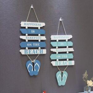 Wooden Wall Hanging Nautical Decor Sign Beach Plaque Home Door Decal Kids Gift