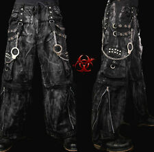 TRIPP MECHANIC ACID RAVE GOTHIC CYBER CHAIN GOTH TECHNO JEANS PUNK PANTS AF7627M