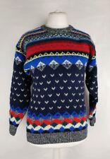 Vintage Paco Ladies Wool Retro Jumper Size S 80's Fugly Aztec Geometric (C)