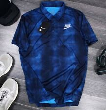 Nike Dri-Fit Standard Fit Blue Polo Shirt Mens S/M/L/XL N1