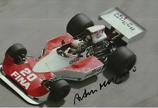 Arturo Merzario Firmato a Mano 12x8 PHOTO FRANK WILLIAMS RACING f1.