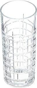 6x BRIT,s Water Glasses Set Glass Juice Drinking Tumbler Tumblers 356ml