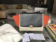 Celine Trapeze Bag (Black Cream Orange) Tricolour
