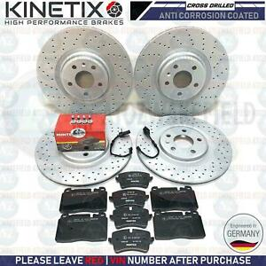 FOR AUDI A6 A7 FRONT REAR DRILLED BRAKE DISCS MINTEX BRAKE PADS 345mm 330mm