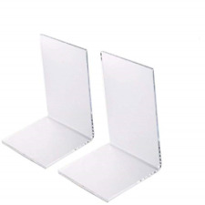 2 Pack Clear Plastic Bookends Acrylic bookends (Clear design) New