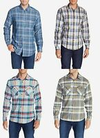 U-PICK Eddie Bauer Long Sleeve Plaid Shirts S,M,L,2XL,3XL Cotton / Flannel