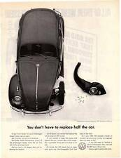 "1961 Volkswagen (VW) Beetle ""Half The Car"" Vintage Magazine Print Ad"