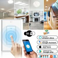 Smart WIFI Light Wall Switch Works w/ Alexa Google Home IFTTT Safety Life NEW