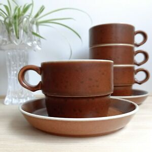 Vintage GUSTAVSBERG COQ Coffee Cup Saucer Scandinavian Design Stig Lindberg MCM