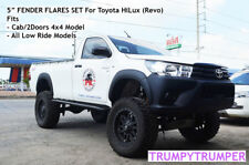 "5"" FENDER FLARES TOYOTA HILUX REVO Cab 2 Doors 4x4 and Low Ride 2015-2018"